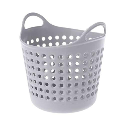 MOPOLIS Portable Mini Desktop Storage Basket Organizer Brush Pencil Holder Trash Bin Can | Color - Grey