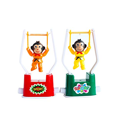 Monkey Gymnastic - 2 PCS Creative Wind Up Toys Funny Gymnastics Monkey Flip Toy for Kids Color Random