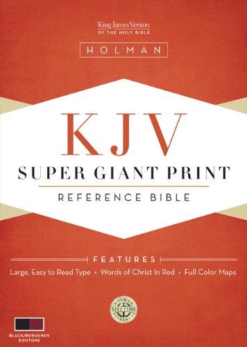 Download KJV Super Giant Print Reference Bible, Black/Burgundy Simulated Leather pdf epub