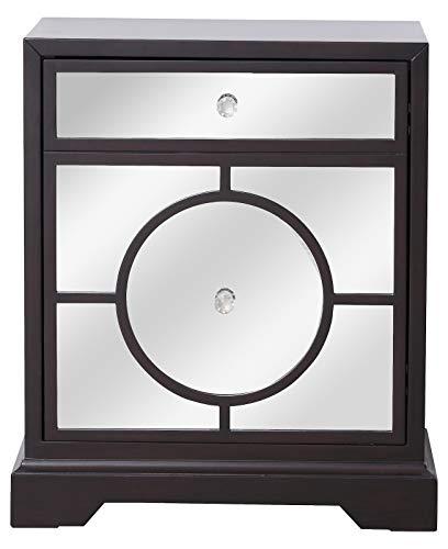 24 in. Mirrored Cabinet in Dark Walnut Dark Walnut