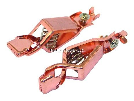 (Invincible Marine Copper Heavy-Duty Battery Clips, 20-AMP Pair)