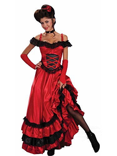 Forum Novelties Women's Saloon Sweetie Costume, Red, Standard]()