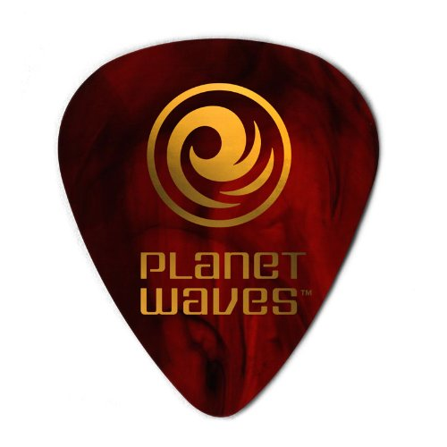 Planet Waves Shell Celluloid Guitar Picks, 100 pack, Light