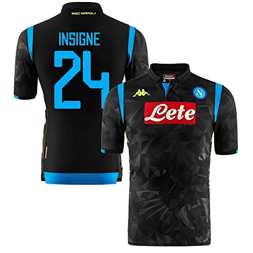 Napoli Away Champions League Authentic Match Insigne 24 Jersey 2018/2019 - Slim-Fit (Fan Style Printing) - ()