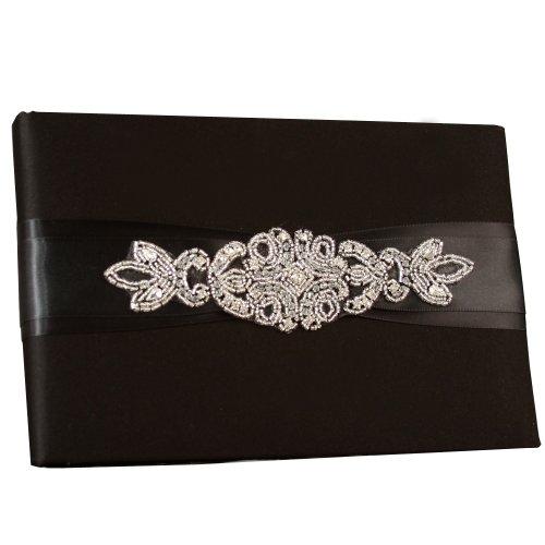 Ivy Lane Design Wedding Accessories Guest Book, Adriana, Black