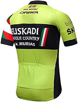SUHINFE Ropa Traje Ciclismo Hombre Verano Maillot Ciclismo para MTB Ciclista Bici, UKD-GN, M: Amazon.es: Deportes y aire libre