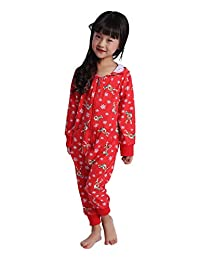 BESBOMIG Christmas Hooded Jumpsuit Pajamas Matching for Women, Men, Girls, and Boys