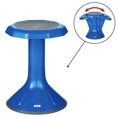 "ECR4Kids ACE Active Core Engagement Wobble Stool for Kids, Flexible Classroom and Home Seating, 18"", Blue"