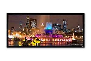 """Elite Screens R103WH1-WIDE ezFrame Fixed Projection Screen (103"""" 2.35:1 AR)(CineWhite)"""