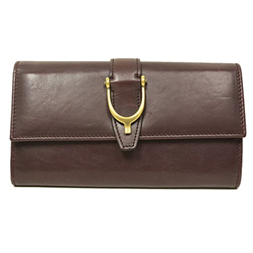 Gucci Spur Detail Continental Plum Purple Leather Wallet 277718 by Gucci