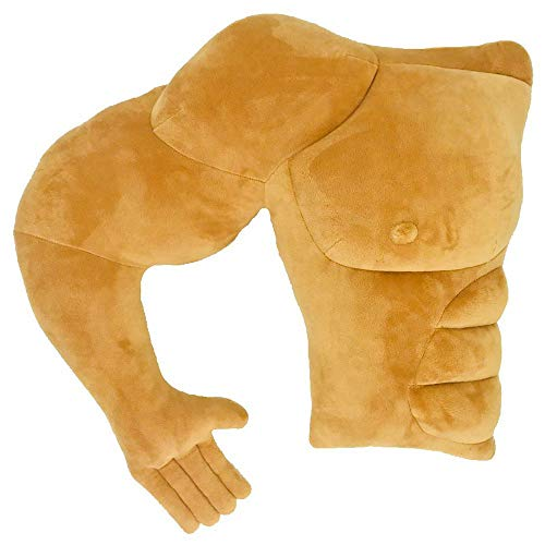 Boyfriend Husband Cuddle Buddy Pillow Muscle Man Body Arm Pillows Joke Toy Gag Gift for Mother's Day Girlfriend Birthday Valentine's Day (Right)