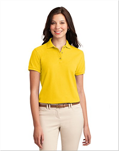 Sunflower Ports (Port Authority L500 Ladies Silk Touch Polo - Sunflower Yellow - L)