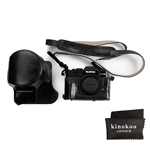 kinokoo Fujifilm PU Leather Camera Case,Fullbody Case Cover for Fujifilm XT30 XT20 XT10 with 16-50mm and 18-55mm - Case Black Camera Leather