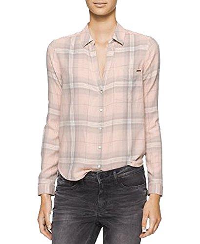 Calvin Bootcut Jeans (Calvin Klein Jeans Women's Long Sleeve Blush Plaid Flannel Shirt, Northern Blush, Medium)