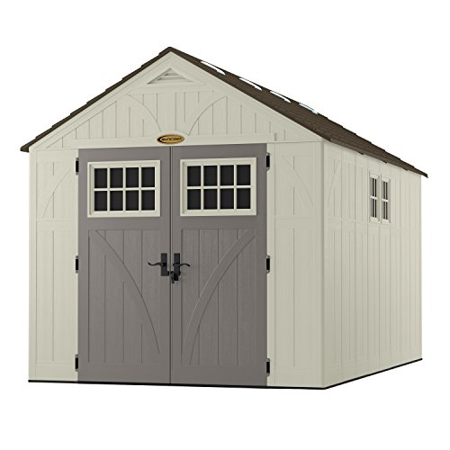 Suncast BMS8135 Tremont 715 Cubic Foot Tremont 8 x 13 Resin Outdoor Storage Shed