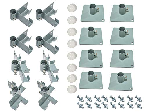 - Tommy Docks 8 FT Bracket Kits for T-Style, L-Style & Straight Dock Section with Augers - Lite Duty Steel Boat Dock Hardware & Marine Accessories (T-Style, Foot Pads)