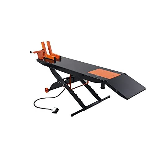 """Cheap APlusLift 1500LB Air Operated 24"""" Width ATV Motorcycle Lift Table (Free Service Jack, Free Home Delivery) free shipping"""