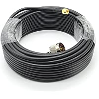 49ft N Male to SMA Male RG58 Copper Wire Cable for WIFI/3G/4G/LTE/Ham/ADS-B/GPS/RF Radio to Antenna or Lightning Arrester Use