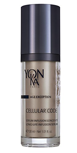 YON-KA AGE EXCEPTION CELLULAR CODE SERUM (1 Ounce / 30 Milliliters) - Revolutionary Cell-Energy Complex That Boosts Cellular Longevity and Oxygenation and Reinforces the Skin's Defense Potential