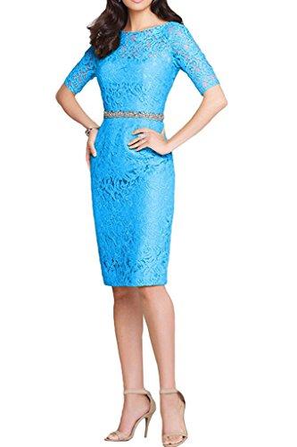 La Damen Blau Spitze Abendkleider Langarm Brau Edel Festlichkleider Brautmutterkleider Figurbetont Formalkleider Ballkleider mia wqAwRgH4F
