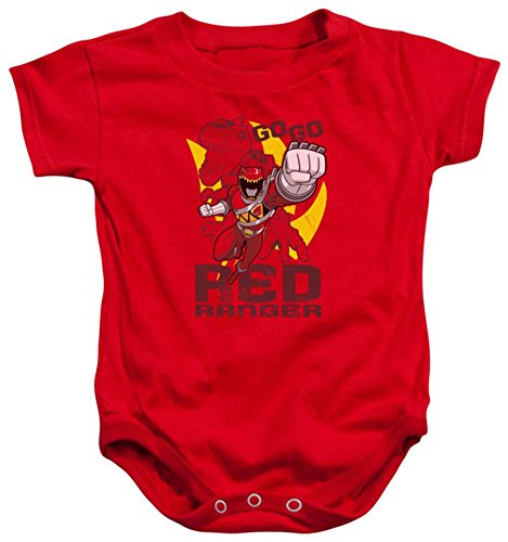 Infant Power Rangers Go Red Onesie Infant Onesie Size 12 Mos -