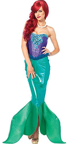 UHC Women's Mermaid Deep Sea Siren Outfit Adult Fancy Dress Halloween Costume, S (4-6)