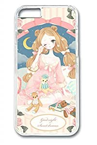 Cartoon Girl Slim Soft Cover Case For Iphone 6 Plus (5.5 Inch) Cover PC Transparent Cases