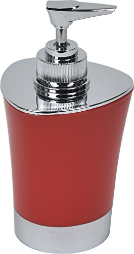 EVIDECO Modern Bathroom Soap & Lotion Dispenser Chrome Parts, Red by EVIDECO