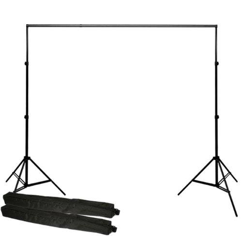 PBL Backdrop Background Support Stand System Photography Studio Video 10'X12' Heavy Duty Background Stands, Spring Loaded Newly Patented 12' Cross BAR by PBL by PBL