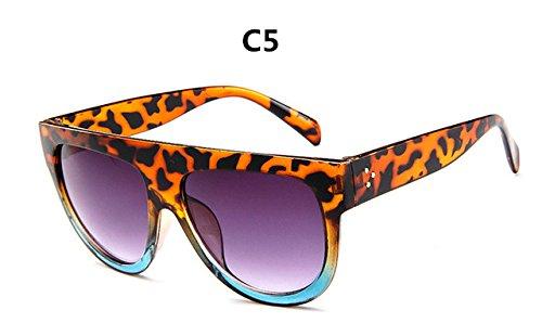 de gafas mujer lujo C6 ZHANGYUSEN Diseño Vintage de de sol de la Gafas Mujer Frame Gran Full sol gafas marca gafas C5 4B7qwBRAT