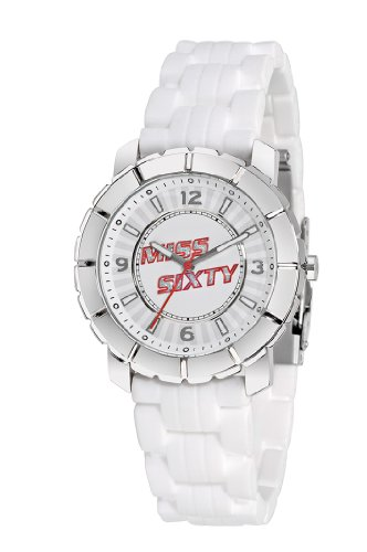 Miss Sixty SIJ004 40mm Stainless Steel Case White Steel Bracelet Mineral Men's Watch - Miss Sixty Jewellery