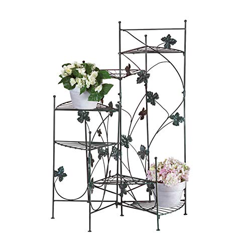 VERDUGO GIFT CO 57070255 Climbing Vines Plant Stand, Green (Best Plants For Mostly Shade)