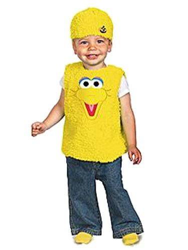 Sesame Street Big Bird Costumes (Sesame Street Infant Boys & Girls Plush Yellow Big Bird Costume 12-18 Months)