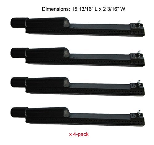 Cast Iron Bbq Burners - BBQ funland CB6301(4-pack) Cast Iron Barbecue Gas Grill Burner Replacement for Jenn-air, Lowes, Charbroil Model Grills