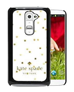 Personalized Design With Kate Spade 53 Black LG G2 Protective Cover Case