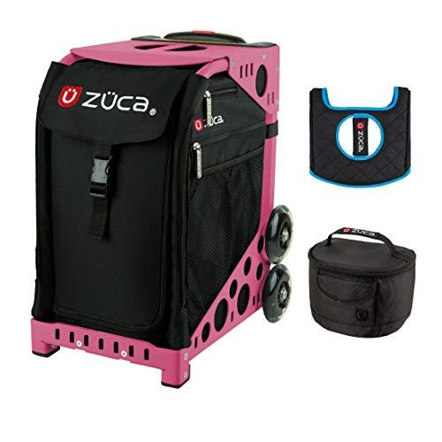 ZUCA Sport Insert Bag (Black), Sport Frame (Pink), Lunchbox & Seat Cushion