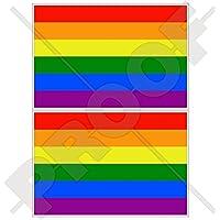 "Gay Pride Rainbow Flag LGBT Movement Lesbian, Gay, Bisexual & Transgender 4"" (100mm) Vinyl Bumper-Helmet Stickers…"
