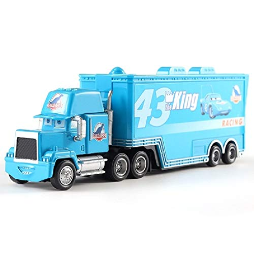 Diecasts & Toy Vehicles - Disney Pixar Car Truck Kingdom No. 43 Car King Truck Combination 1:55 Die Casting Metal Alloy Model Toy Car Children's Gifts - by TINIX - ()