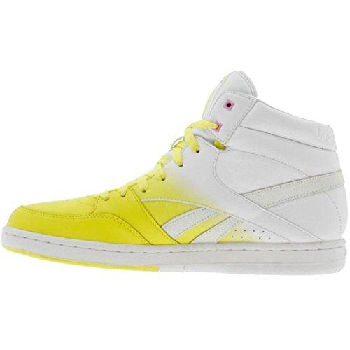 Reebok Dames Courtee Medio (geel / Wit / Neonblauw / Roze)