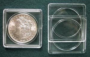 Edgar Marcus 2x2 Snap Tite For Large Dollar Coins Snaplock Storage Box of 25 NEW