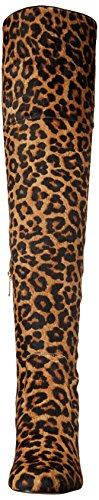 Brown black Sam Women's Edelman Boot Elina Leopard wS8aI7