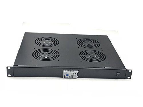 Rising Rack Mount temperature control Server Fan Cooling System With 4 Fans 1U