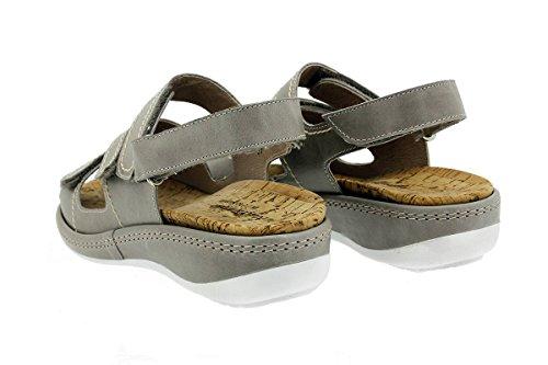 Estradibile Tucson Piesanto Comfort Sandali Donna 180915 Scarpe Visón Plantare 01EA1Z