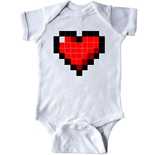 inktastic 8 Bit Heart Infant Creeper 12 Months White - Gus Fink Studios - Bit 8 Heart