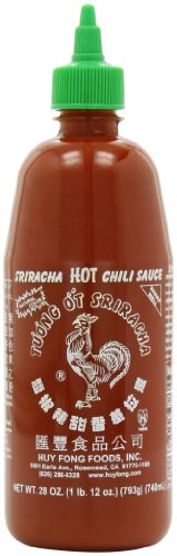 Sriracha Hot Chili Sauce Bottle, 28 Ounce (Chinese Hot Sauce With Rooster On Bottle)