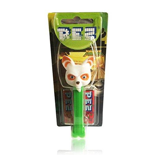 PEZ dispensador Kung Fu Panda maestro Shifu con dos recambios de caramelos