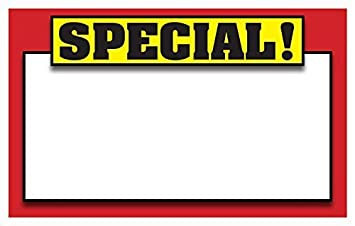amazon retail special signs template 5 5 x3 5 blank sale price