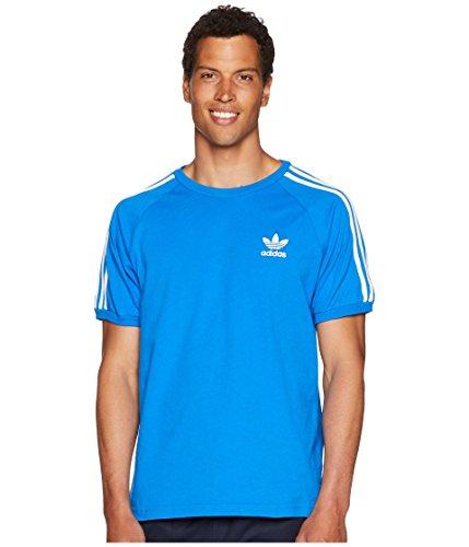 adidas Originals Men's 3-Stripes Tee, Blue Bird, 2XL
