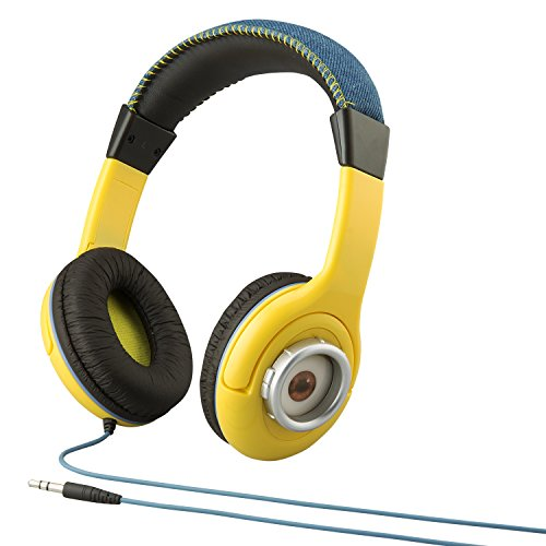 Minions Despicable Me Kid Friendly Headphones with Built in Volume Limiting Feature for Safe Listening by Minions