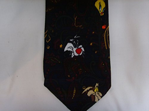 Mens Tie Looney Tunes Sylvester Tweety Wiley Bugs Bunny Necktie Collectible